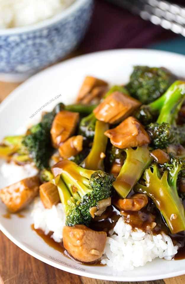 Pollo teriyaki y brócoli de 20 minutos