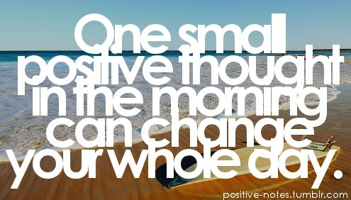 Everyday is a new day!  WE choose our attitude and the day that is ahead of us!