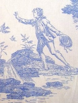 Laura Ashley Blue Toile I love this old classic design either for curtains, upholstery or linens.