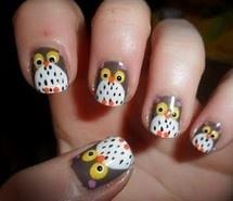 owls :)Owl Nails, Animal Nails, Nailart, Nails Design, Nailpolish, Owl Nail Art, Owls Nails Art, Nails Ideas, Nails Polish