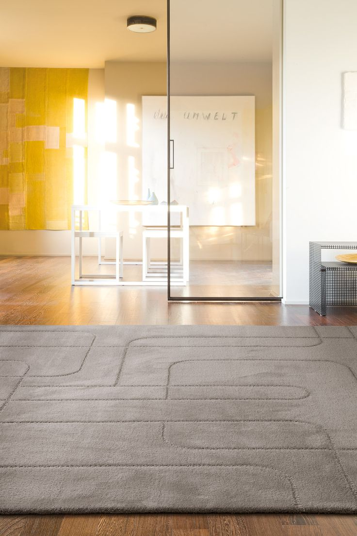 'Maestro Metro - Silver' by Limited Edition. Maestro is made out of wool and silk. | www.le.be | Collection 2015 #bespoke #rugs #carpets #madeinbelgium #grey #soft #tufted