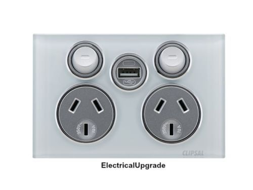 Clipsal-Saturn-Offer-Double-Power-Point-4025USBC-With-USB-Charger-in-Pure-White