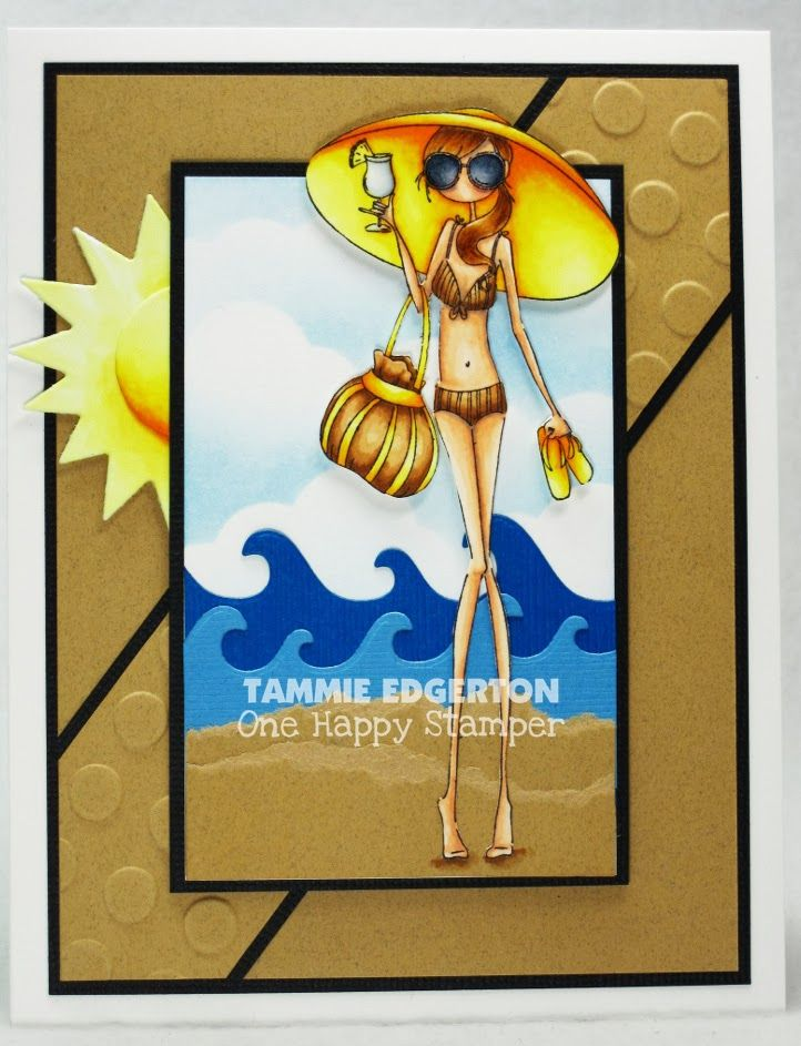 COPIC COLORING:  SKIN:  E11, E01, E000, R30, BV20  HAIR:  E57, E55, E53, E51  SUN GLASSES:  C6, C4, C2, C0  BIKINI:  E35, E33, E30  HAT, THONGS, SUN:  Y38, Y11, Y00  BAG:  E35, E33, E30, Y38, Y11, Y00  COCKTAIL:  C1, C00, BG70, Y00  SHADOW:  E35, E30 - Details are on my blog.  (Stamping Bella; Uptown Girl Sandy and her Sombrero)