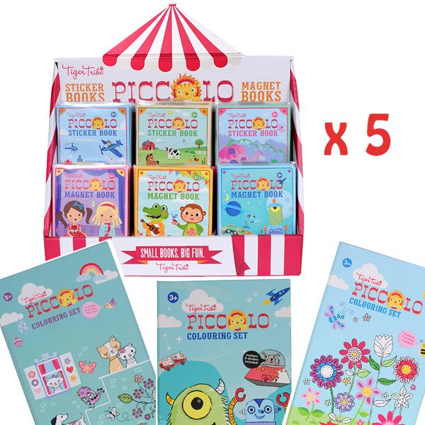 Week five runner up prizes: Five Tiger Tribe Piccolo Travel Packs (each includes an On the Move Piccolo Sticker Book, Animals Abound Piccolo Sticker Book, Fairy Lane Piccolo Sticker Book, Planet Robot Piccolo Magnet Book, Dress It Up Piccolo Magnet Book, Animal Jumble Piccolo Magnet Book, Boys' Favourites Piccolo Colouring Set, Little Girls' Favourites Piccolo Colouring Set, Big Girls' Favourites Piccolo Colouring Set). Phew! #Entropywishlist #pintowin# #Tigertribe