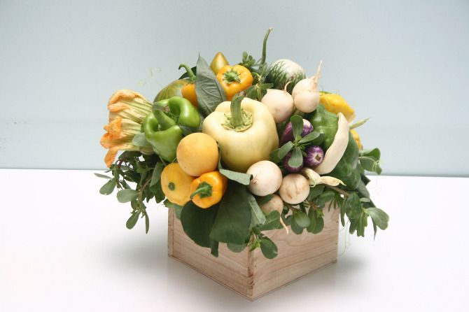 vegetable arrangements - Jen Hubbell