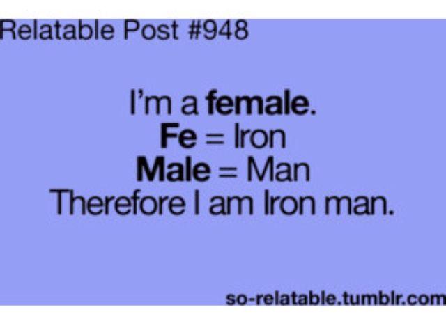 I AM IRON MAAAAAAAN!!!