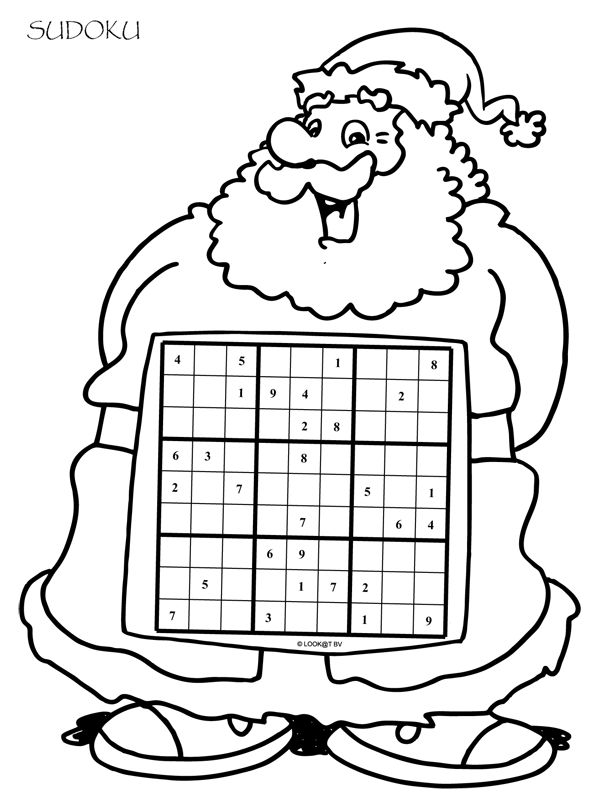 This is an image of Bewitching Christmas Sudoku Printable