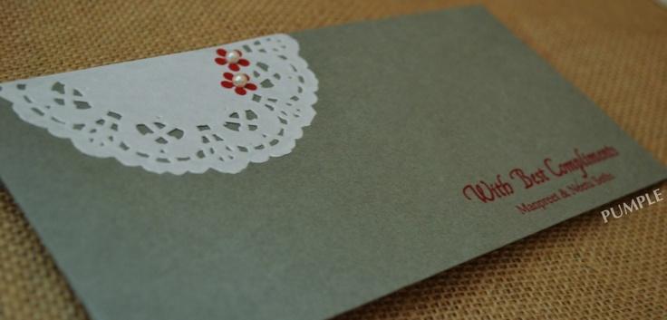 DIY doiley money favour envelope