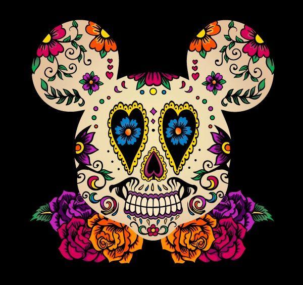 Mickey Mouse Sugar Skull Tattoos Pinterest