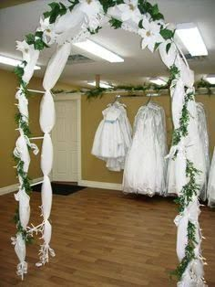 Image result for how to decorate a metal wedding arch