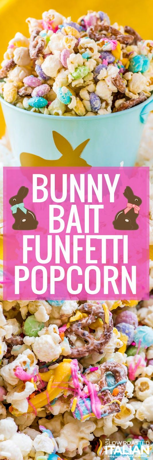 Bunny Bait Funfetti Popcorn is a fun and festive recipe that comes together in 15 minutes. It is perfect for Easter and the kids are going to love it! And the adults too.
