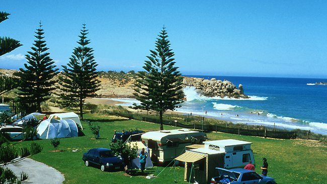 Big 4 Caravan Park at Port Elliot, SA. Next to the beautiful Horseshoe Bay and near the Flying Fish Cafe. Great stay.