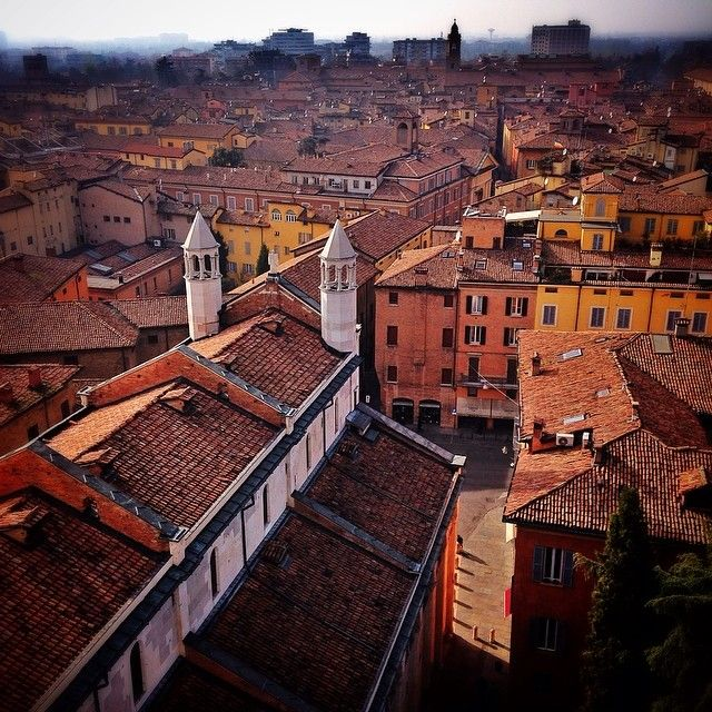 View from the top of Ghirlandina, the bell tower of Modena Cathedral - Instagram by pattyrossy