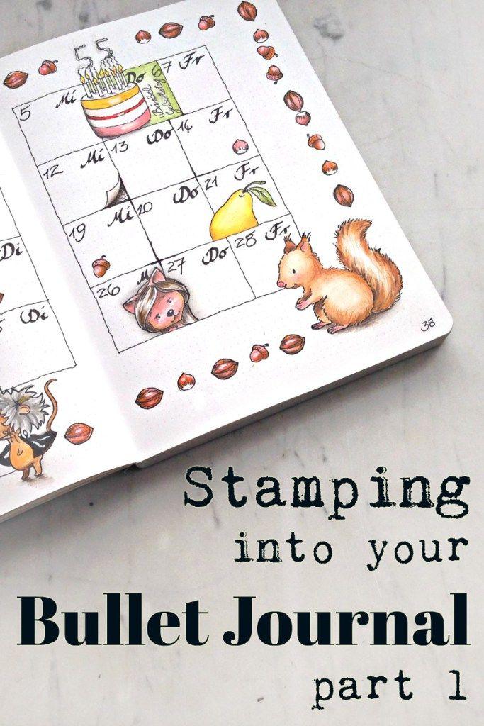 Wie stempele ich in ein Bullet Journal?       How to stamp in a bullet journal