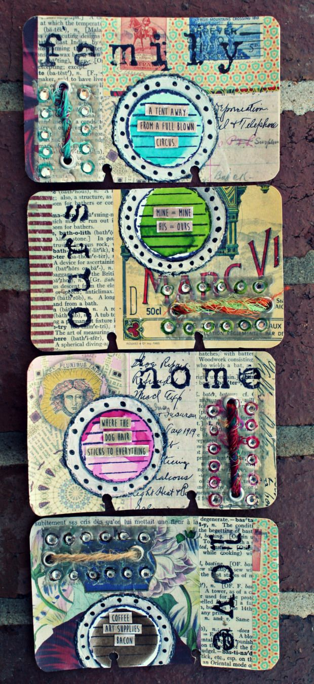 Altered Rolodex Card Journal: Life Series good idea for 52 lists on cards.
