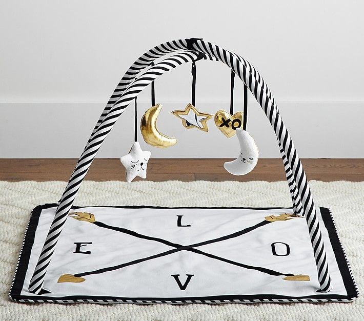 adorable black and white Activity Gym