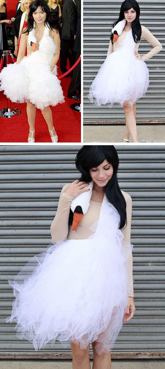 Bjork Swan Dress Costume | Click Pic for 22 Easy DIY Halloween Costumes for Women 2014 | Last Minute Halloween Costumes for Women