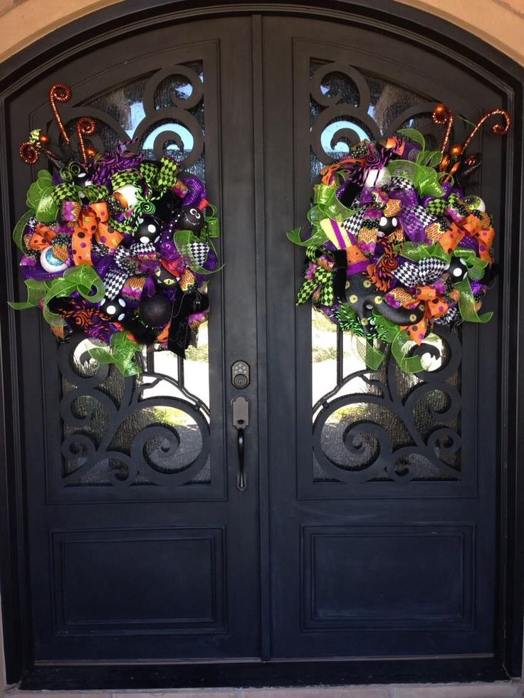 Best 25 double door wreaths ideas on pinterest entry - Used exterior doors for sale near me ...