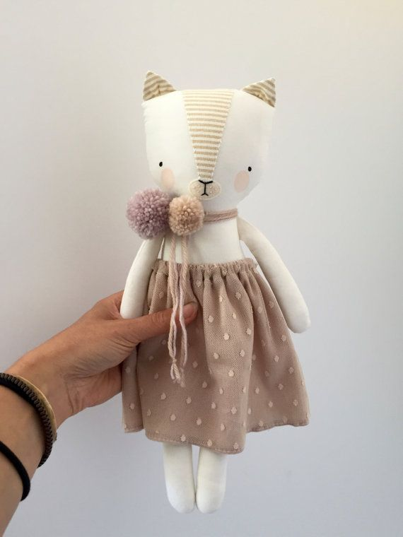 luckyjuju kitten doll girl by luckyjuju on Etsy