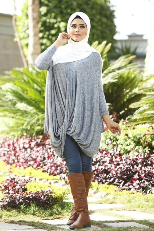 wrap tunic hijab look, Winter hijab designs by amazing store http://www.justtrendygirls.com/winter-hijab-designs-by-amazing-store/