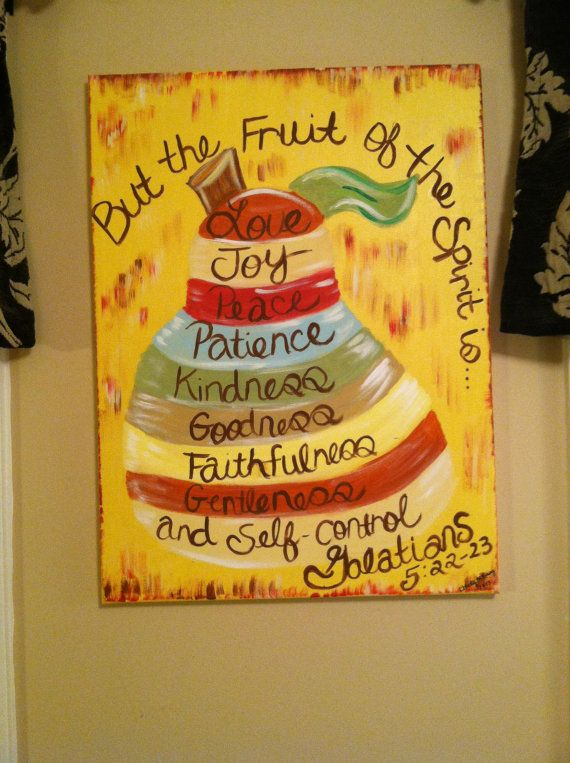 18x24 Distressed Pear Canvas Painting Fruit by ChristCrossDesigns, $140.00