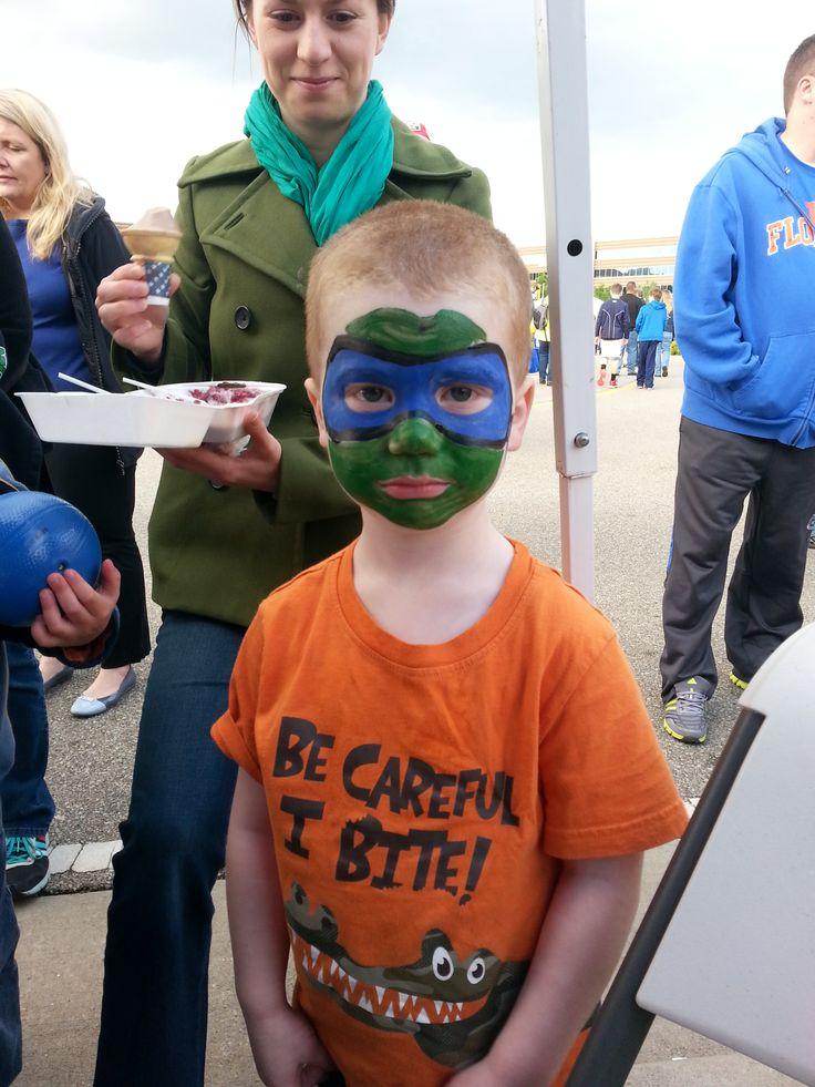 2014 BBQ Fest. Face painting for the kids!! TMNT Leonardo teenage mutant ninja turtle