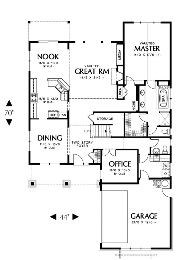Plan No.322166 House Plans by WestHomePlanners.com