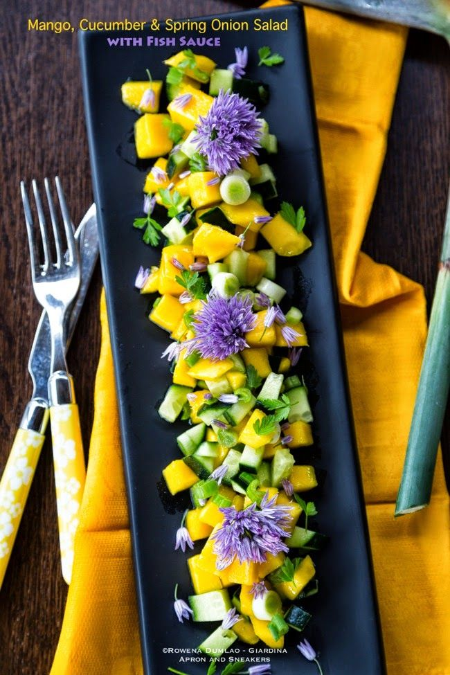 Apron and Sneakers - Cooking & Traveling in Italy and Beyond: Asian Mango, Cucumber and Spring Onion Salad with Fish Sauce