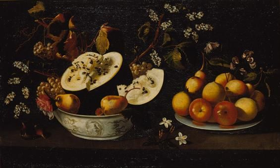 Josefa de Óbidos (Sevilla 1634- Óbidos 1684): Natureza morta com frutos e flores