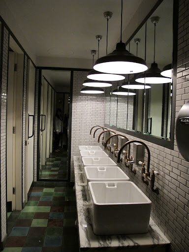 From my London travels: public washroom with a residental feel