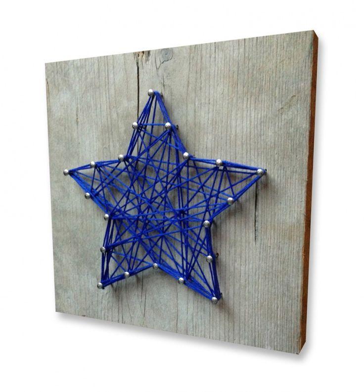 DIY Pakket Ster | DIY Pakketjes, cadeaus, kraamcadeaus, kinderfeestjes, kerstpakketjes | spijkerpatroon (string art)