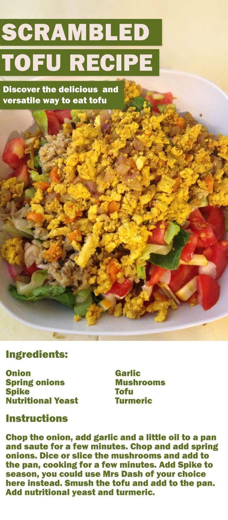 Wondering how to make tofu taste great? Try my scrambled tofu recipe