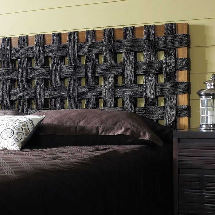 Padmas Plantation Seagrass Open Weave Headboard $667.10 - I am sure there is a DiY here with upholstery webbing