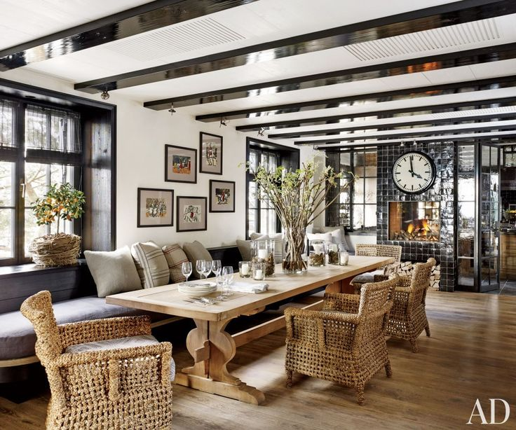 these stylish oversize dining room tables make space for easy
