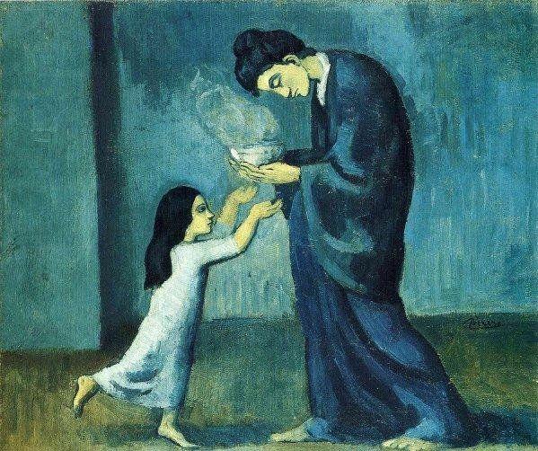 Pablo Picasso「La soupe」(1902-03)