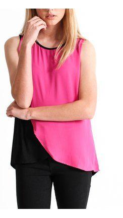 Colour Jersey Top Black/pink=Pagani $39.99