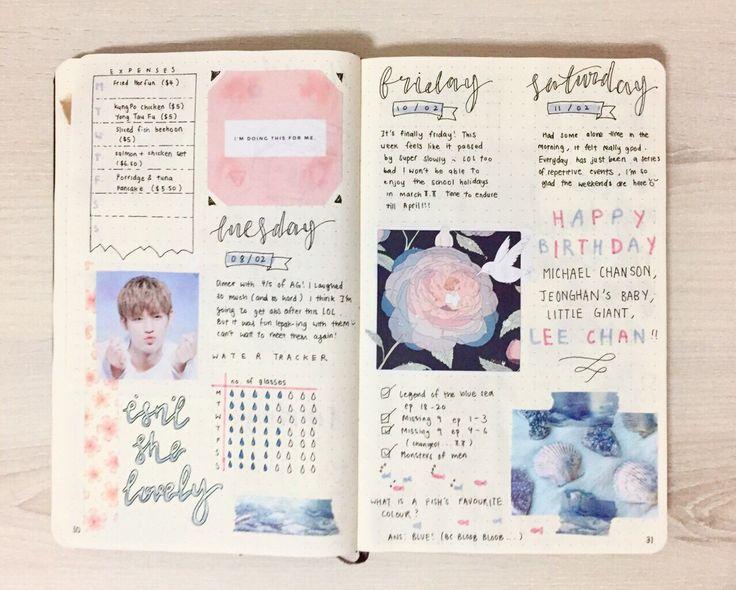 Journal Bullet Ideas Page Week