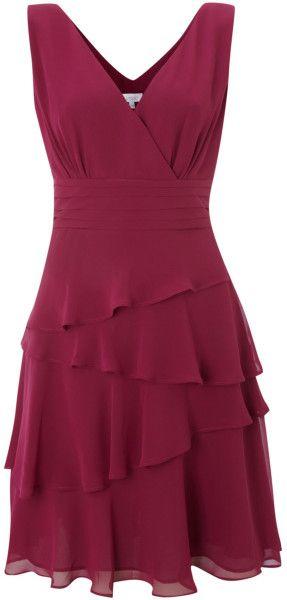 Love this: Sleeveless Vneck Layerered Dress @Lyst