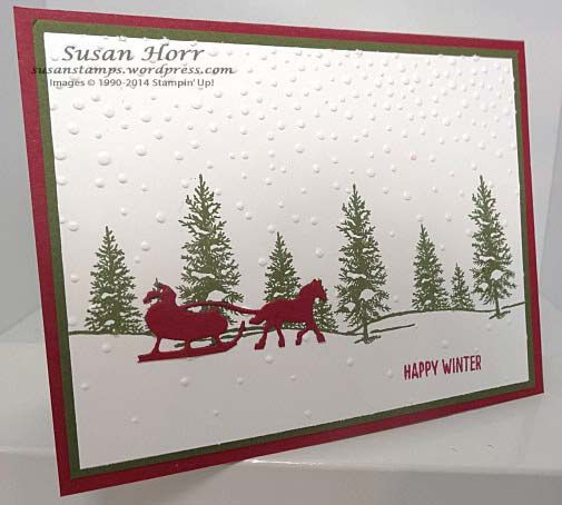 Sleigh Ride Thinlits, Happy Scenes, Stampin Up, susanstamps.wordpress.com