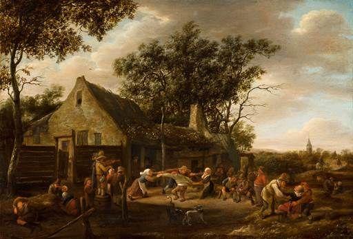 Jan Steen, Dancing Peasants at an Inn, c. 1646 - 1648