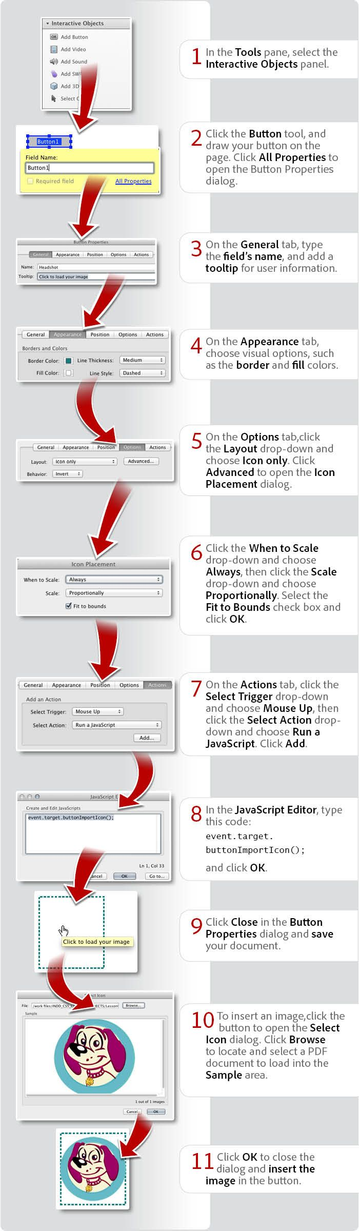 How To Create A Button Form Field To Insert A Pdf File: In This Graphic