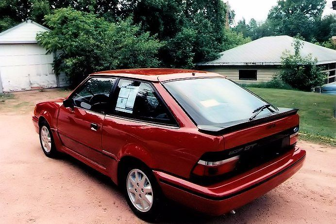 My first new car in 1988... 1988 1/2 Ford Escort GT | Cars ...