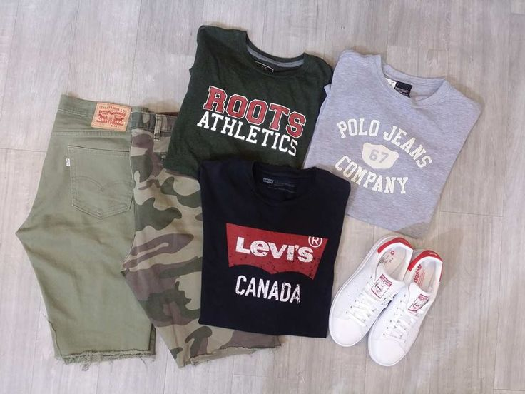 #PlatosClosetBrampton keeps our store fully stocked with TONS of great spring styles for GUYS – Brands like #Levis, #Roots, #Polo & more are all at prices you won't believe! //#Levi shorts, 24, $10//#Dockers shorts, 36, $10//tees, $6-$8//#Adidas #StanSmith sneakers, 8, $40// | www.platosclosetbrampton.com