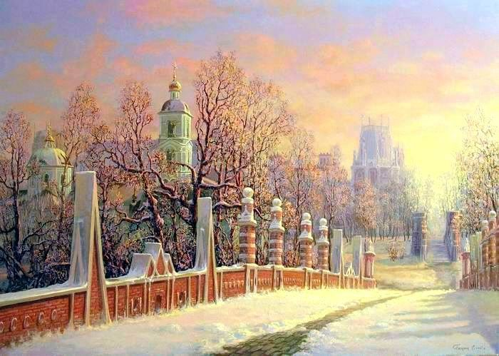 Russian expanses: Beauteous painting by the artist Sergey Panin - 06