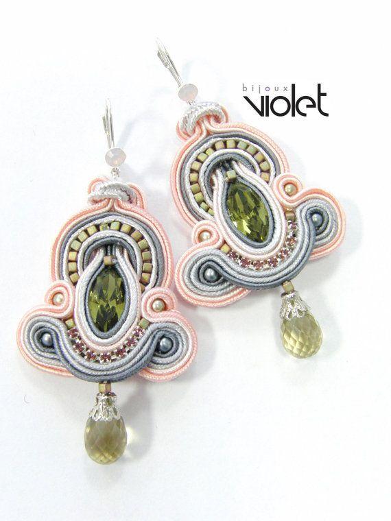 Soutache+earrings+by+Violetbijoux+on+Etsy