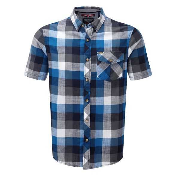 The Maurice is a short sleeved men's t-shirt in a 4 colour check TCZ Cotton fabric. This delivers a natural soft feel as well as next to skin comfort. Design details include a one button chest pocket, a buttoned collar and contrast back yoke - plus chambray fabric binding to the placket. It's also easy care for added convenience.