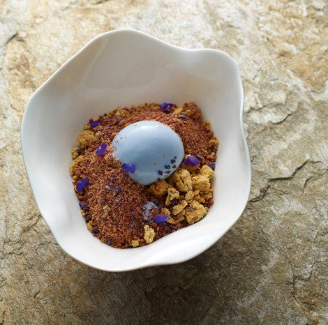 Violet Crumble - made by Ben Shewry With less crumble, maybe a small piece of lavender cake beside the ice cream