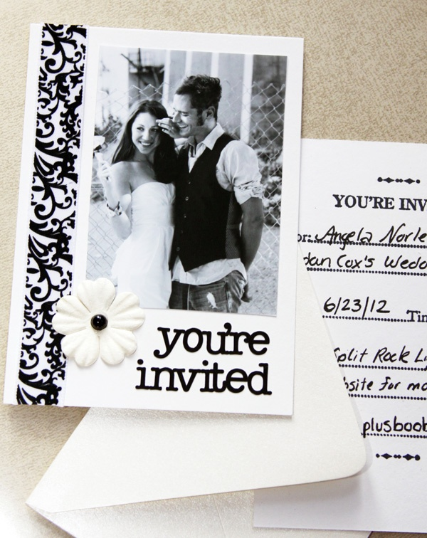 not this theme, but with the picture and the you're invited part, along with the card with information?