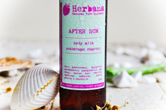 After Sun Body Lotion, Body Oil, Healing, Moisturizer, Soothing, Aloe, Cucumber Extract, by Herbana Cosmetics  After Sun Body Care with Aloe