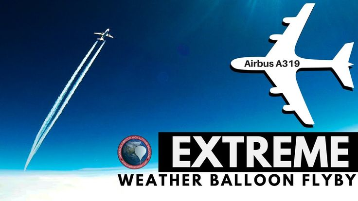 cool Weather Videos - EXTREME Airbus A319 flyby captured by GoPro on a High Altitude Weather Balloon Check more at http://sherwoodparkweather.com/weather-videos-extreme-airbus-a319-flyby-captured-by-gopro-on-a-high-altitude-weather-balloon/